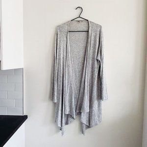 American Eagle Soft Grey Open Front Cardigan